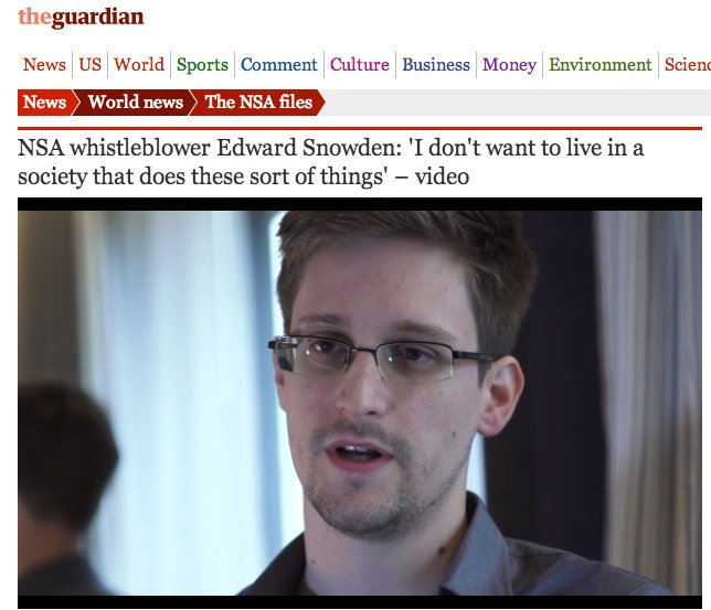 edward snowden revealed