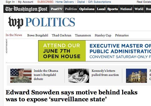 washpo snowden revealed