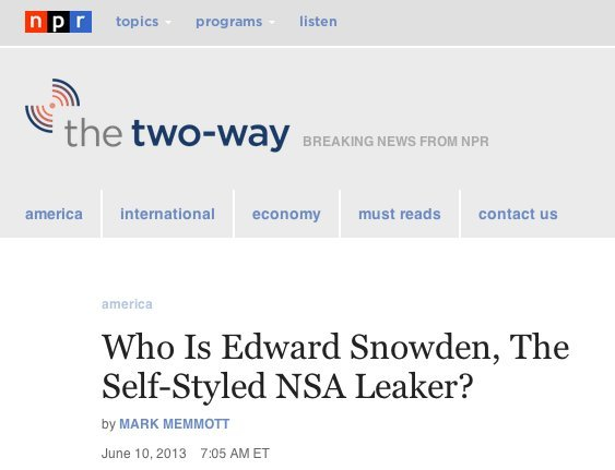 who is snowden