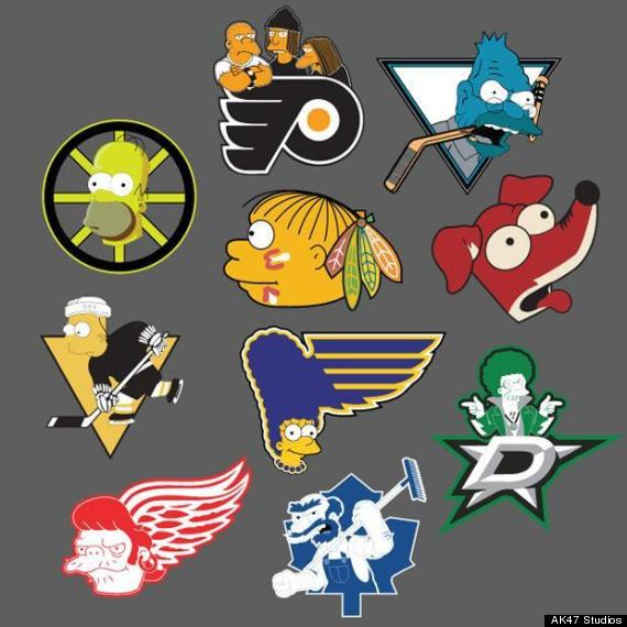 simpsons nhl logos