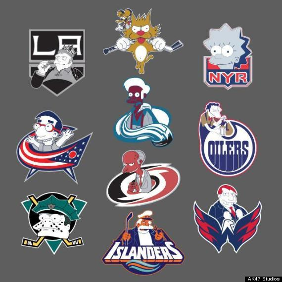 nhl logos simpsons