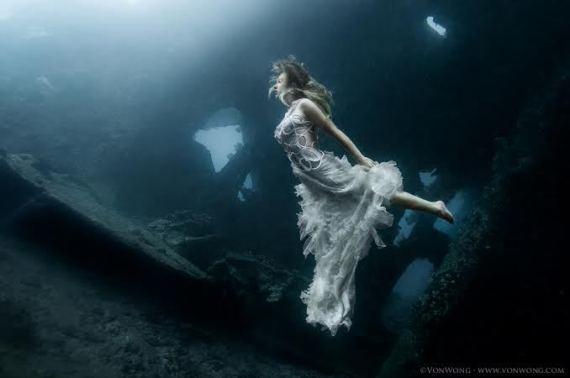models underwater
