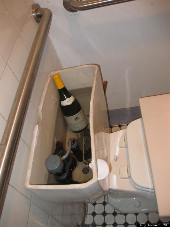 toilet tank wine