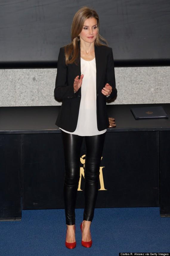 letizia leather pants