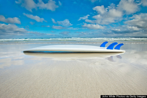 washed surfboard
