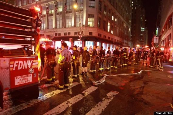New York City Fire Breaks Out In Midtown Near Rockefeller