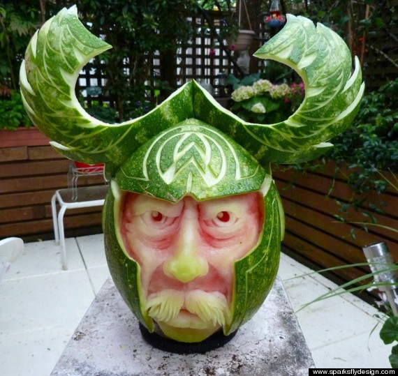 Pictures these carved watermelons are amazing