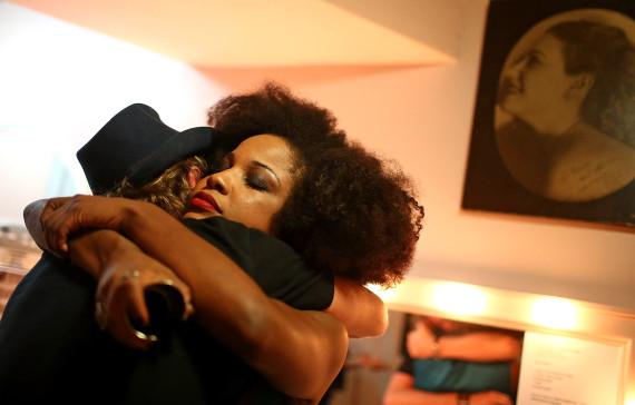 brazilian people hugging