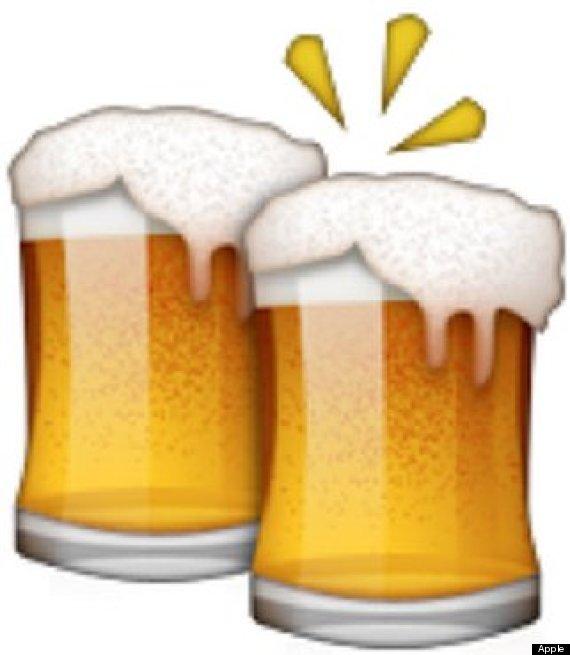 clinking beer mugs