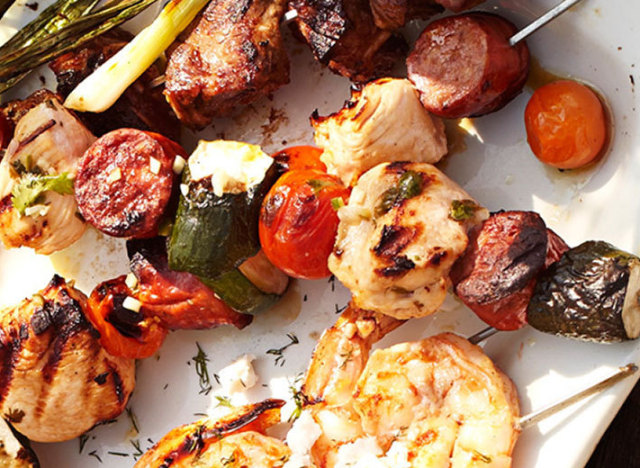 cuban chicken and sausage skewers recipe