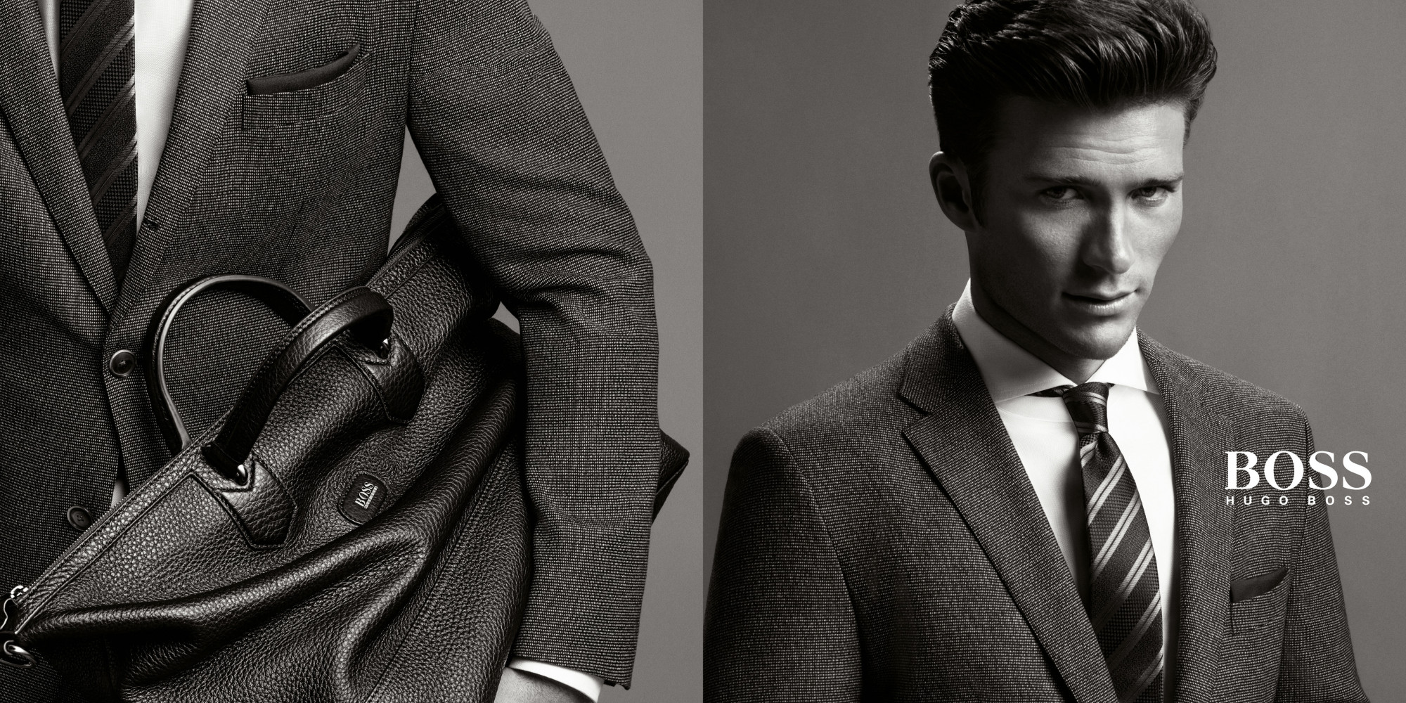 Clint eastwood 39 s son shows off his good genes in hugo boss ads for Is scott eastwood clint eastwood s son