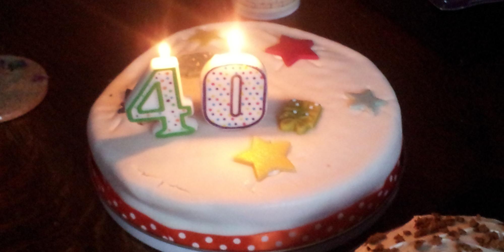 40 Year Old Woman Pretty Source Birthday Cake