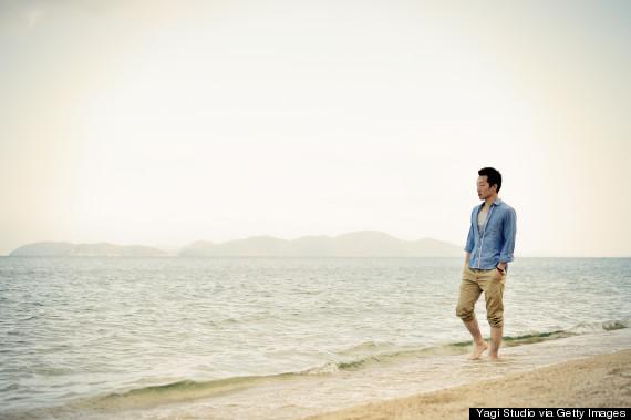 think on beach