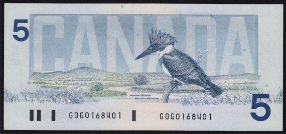 rare canadian 5 bill