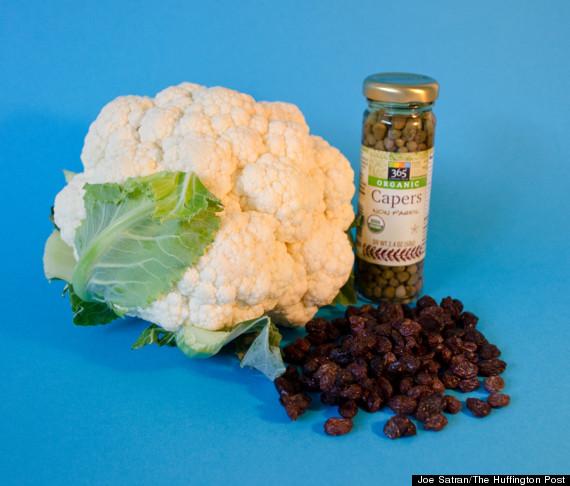 cauliflower raisin ingredients