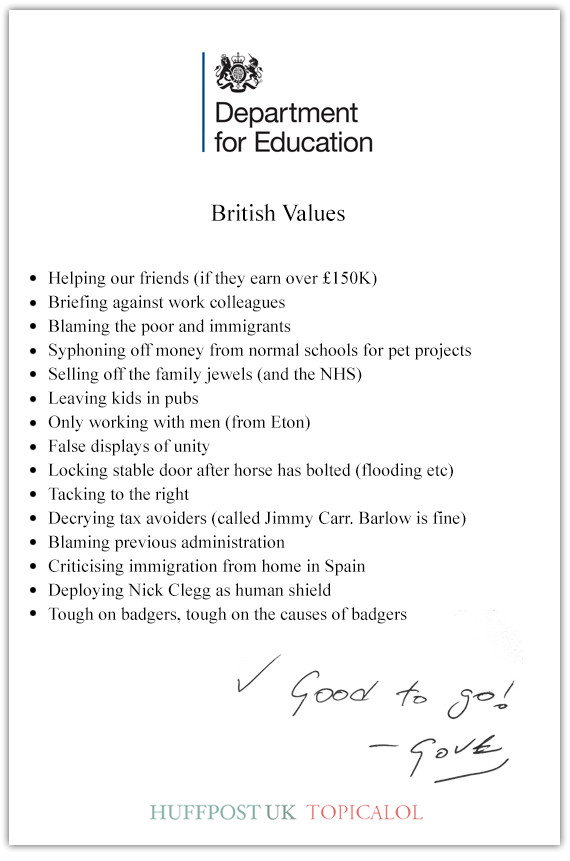 british values michael gove