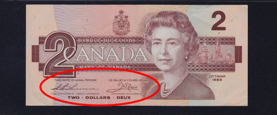 CANADIAN 2 BILL RARE