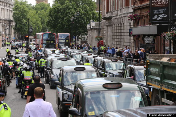 taxi protest uber app