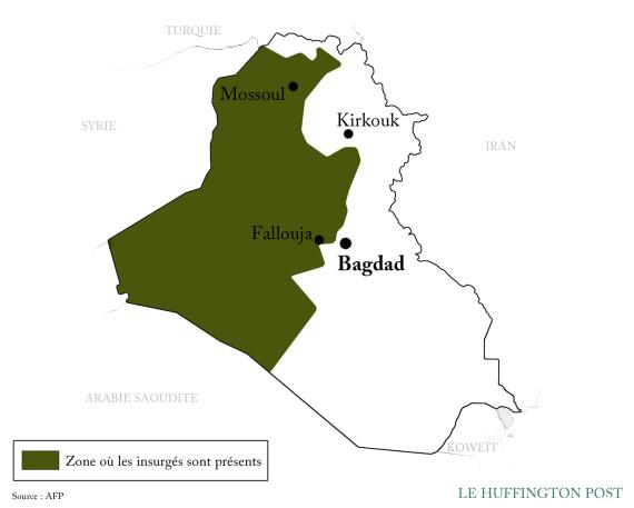 carte irak