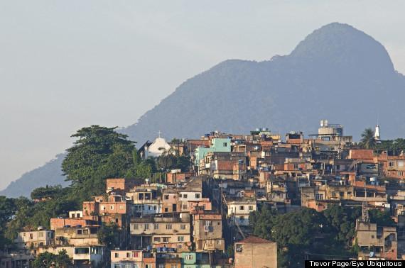 rio de janeiro with favela in background