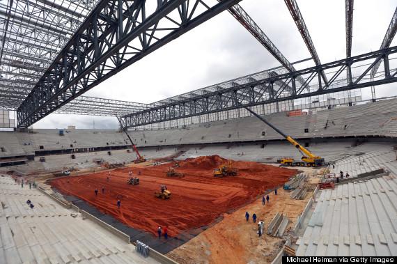construction brazil stadium field