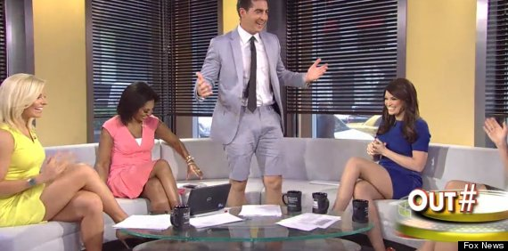 fox news correspondent proves suit shorts are terrible