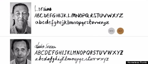 homeless people fonts