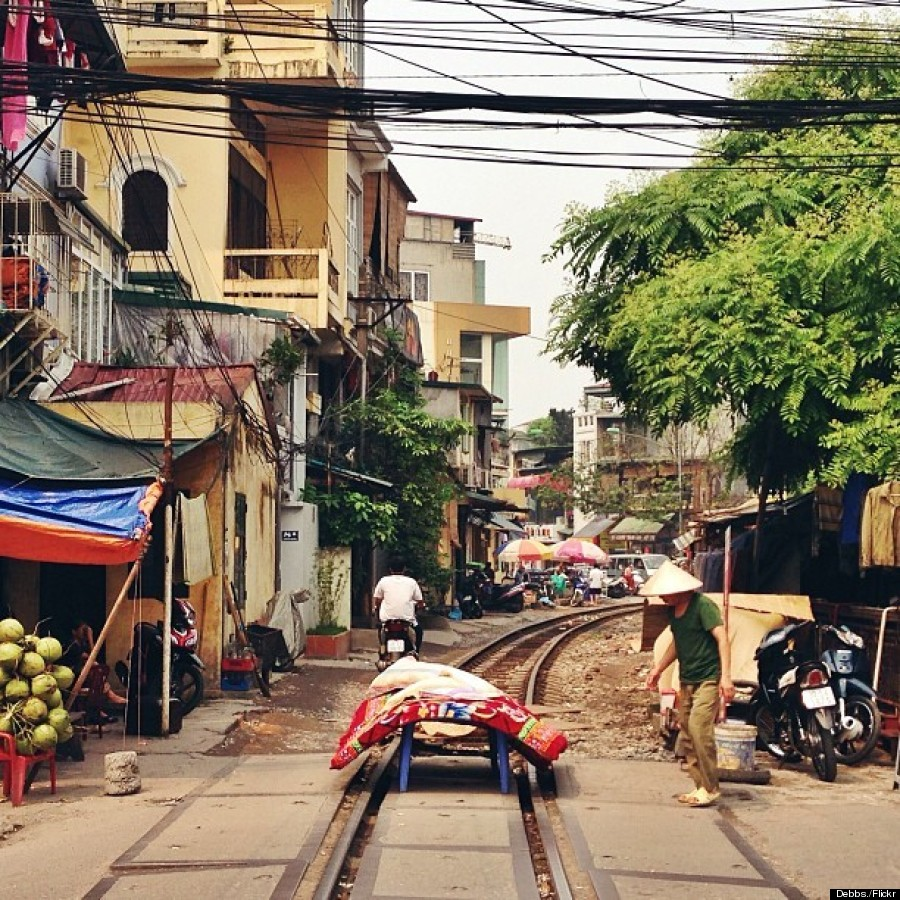 The Hanoi Street That Has A Train Track Through It