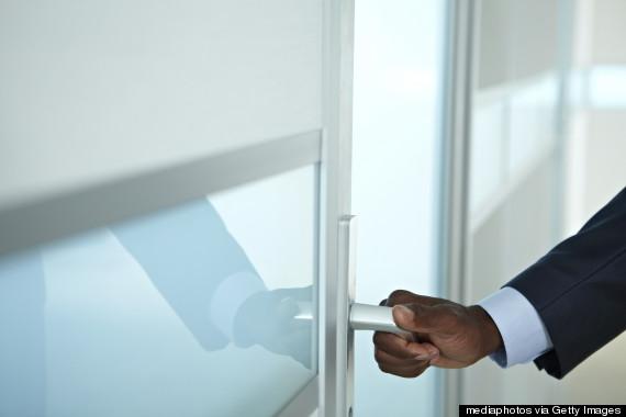 holding door open
