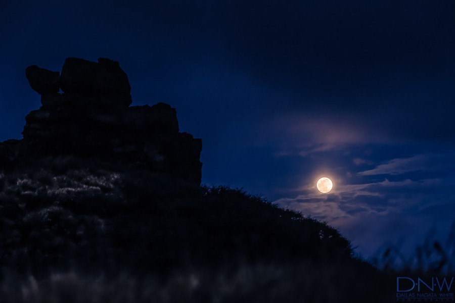 moon and cliff