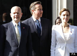Angelina Jolie And Brad Pitt 'Star Struck' By William Hague And David Cameron