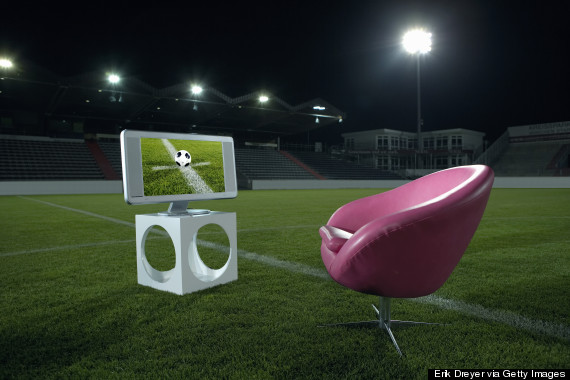 chair in field soccer stadium