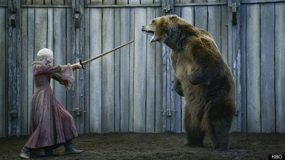 brienne of tarth fights bear