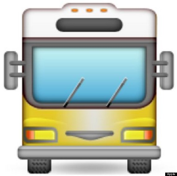 oncoming bus