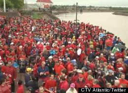 Thousands Run For Fallen Mounties