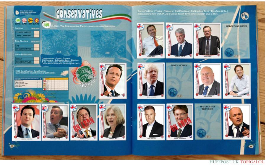 panini sticker album conservatives