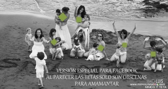 madres dando pecho playa censura