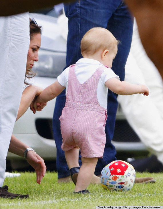 prince george first steps