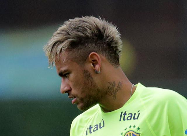 neymar blond
