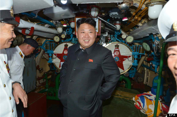 kim jong un on submarine
