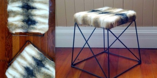 Do it yourself projects huffpost huffpost home diy faux fur stools solutioingenieria Image collections