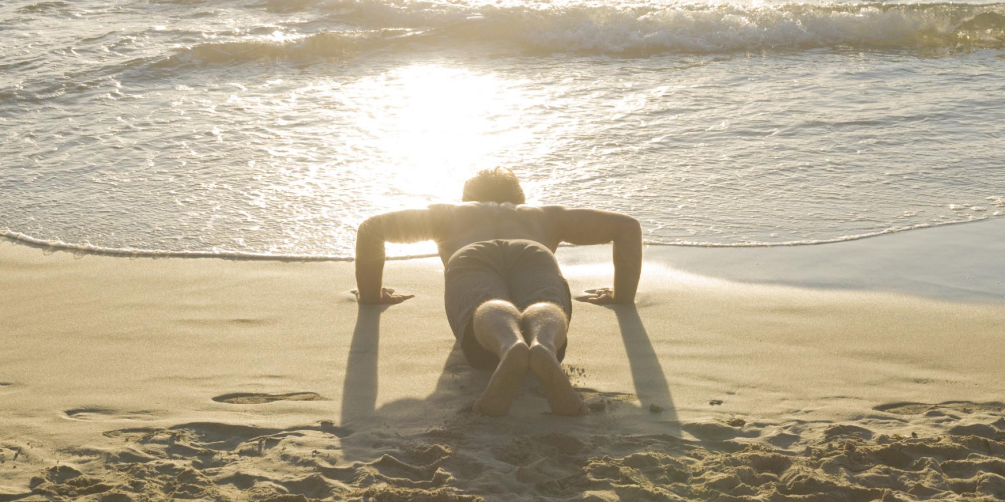 hiit workouts      beach huffpost
