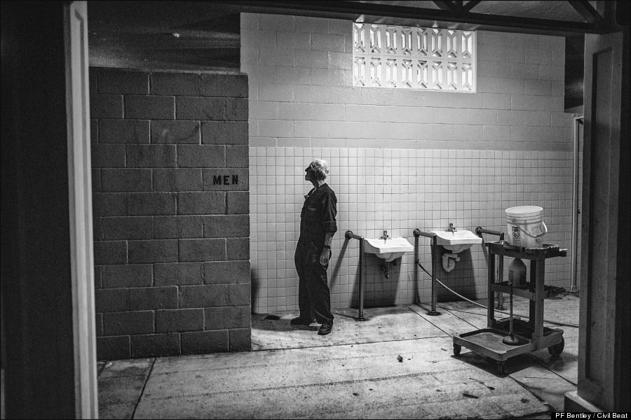 bathrooms waiting