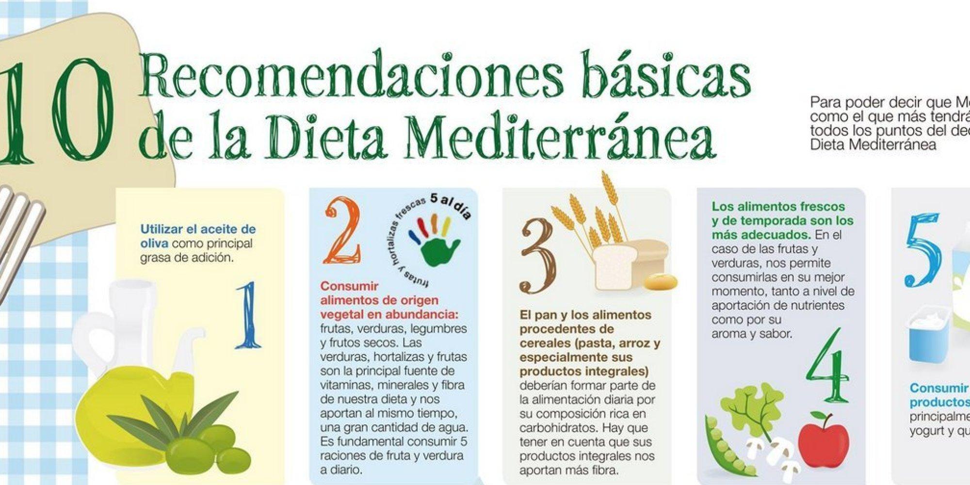 En esto consiste la dieta mediterr nea 10 claves para poder seguirla infograf a - La mediterranea ...
