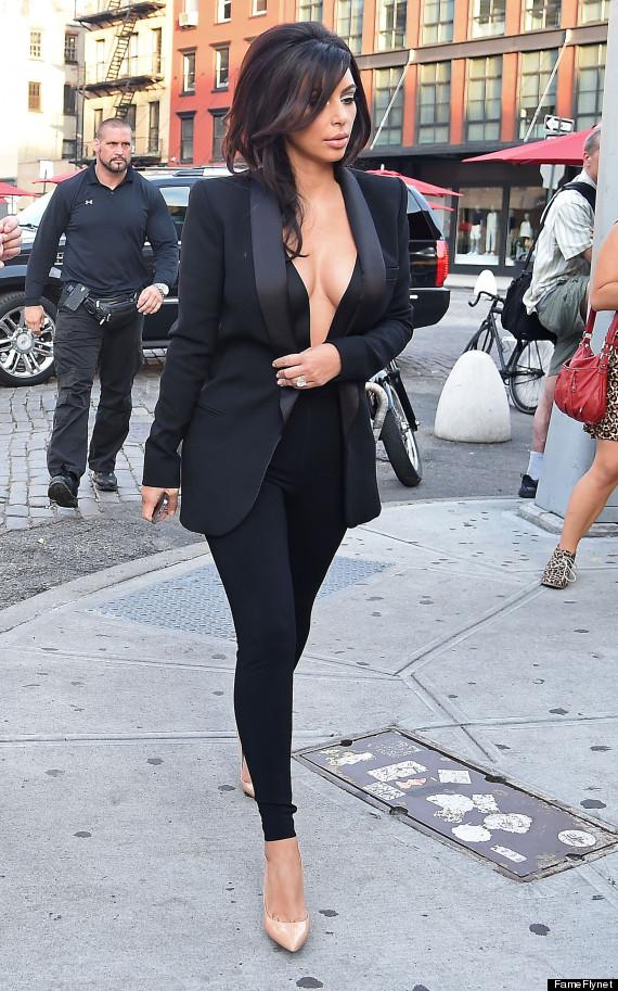 kim kardashian plunging top