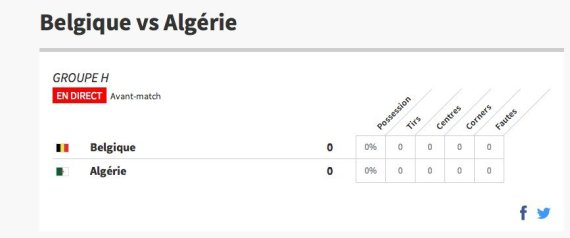 ALGRIE BELGIQUE
