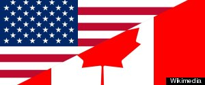 AMERICAN CANADIAN FLAGS