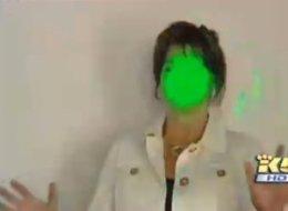 Kriminelle Personen blenden mit Laser