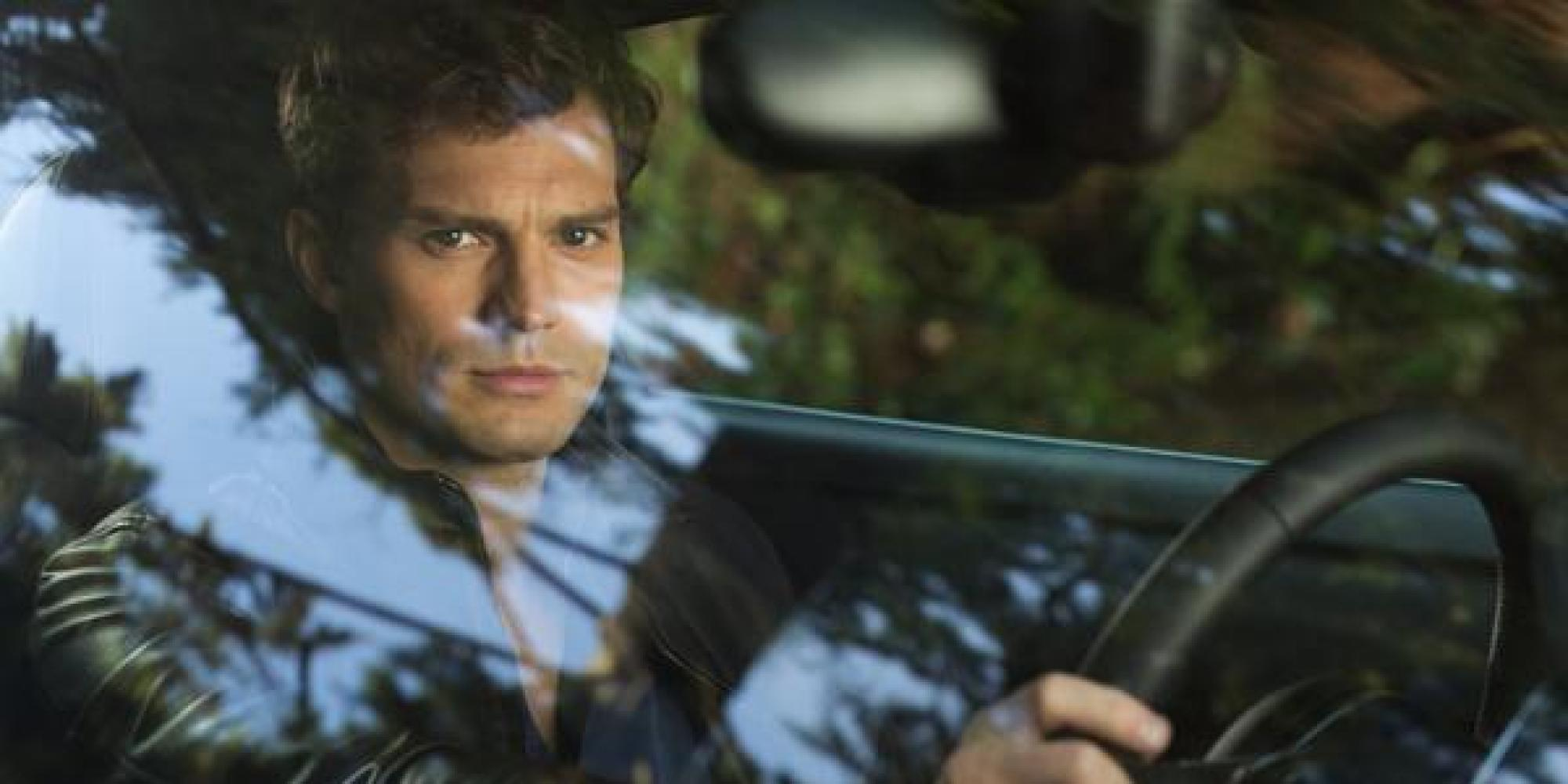 first look at shades of grey shows christian in a car the first look at 50 shades of grey shows christian in a car the huffington post