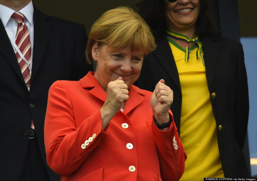 angela merkel world cup